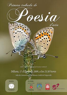 Cartell I Trobada de Poesia Estiu