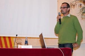 Xavier Mangado, ponent, en un moment de la conferència