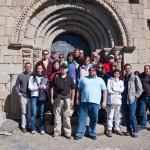 Els participants a la sortida sobre les esglésies romàniques cerdanes
