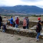 Detall de la sortida al jaciment del Castellot de Bolvir