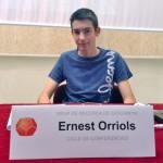 Ernest Orriols a la presentació del seu treball al cicle Joves Investigadors organitzat pel GRC