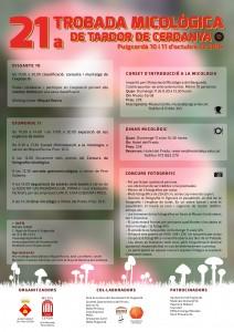 Cartell Trobada Micològica de Tardor 2015