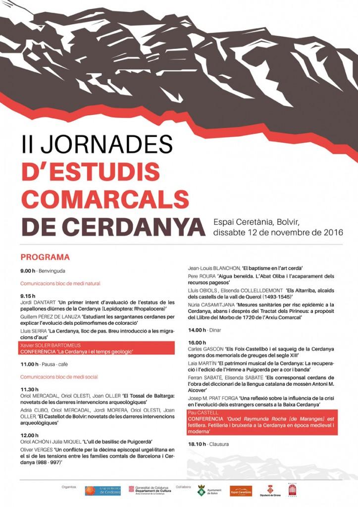 Cartell programa II Jornades Estudis Comarcals Cerdanya
