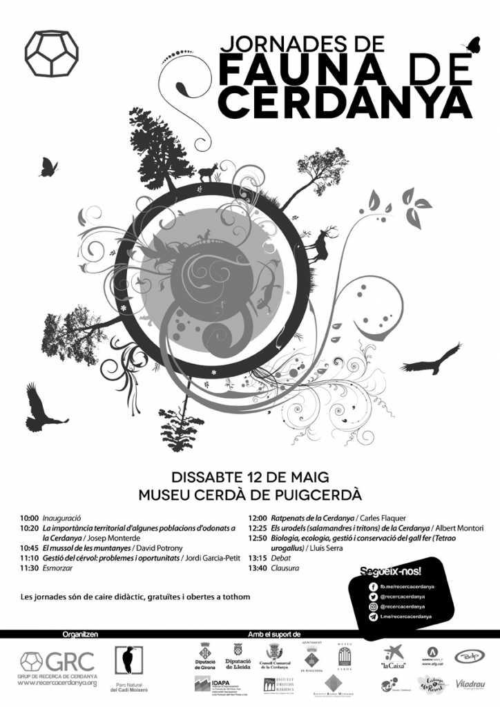 Cartell I Jornades de Fauna de Cerdanya 2018